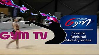 Léna DIAZ Vice-Championne de France de Gymnastique Rythmique Nationale C