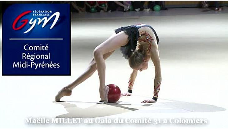 Maëlle MILLET au GR Ballon: Démonstration au Gala du Comité Gym de Haute-Garonne à #Colomiers @ffgymnastique