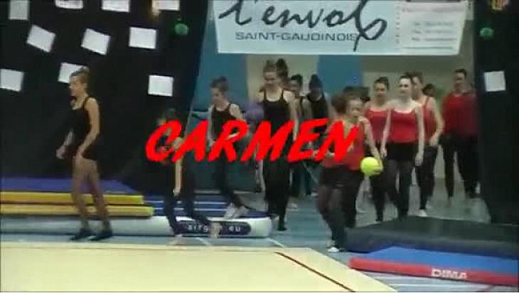 Le groupe de Gymnastique Rythmique de l'Envol St Gaudens vainqueur du concours